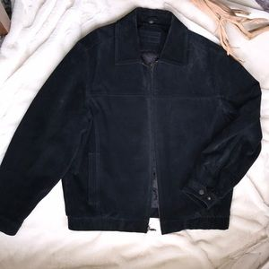 John Ashford Black Suede Leather Jacket